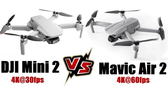 DJI MINI 2 versus Mavic Air 2