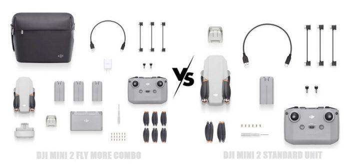 DJI Mini 2 combo vs standard