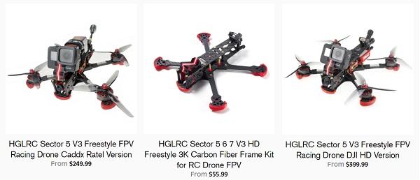 Price of HGLRC Sector 5 V3 versiones