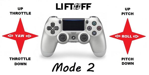 Dualshock 4 mode 2 LiftOff stick layout