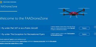 FAA registration DroneZone banner