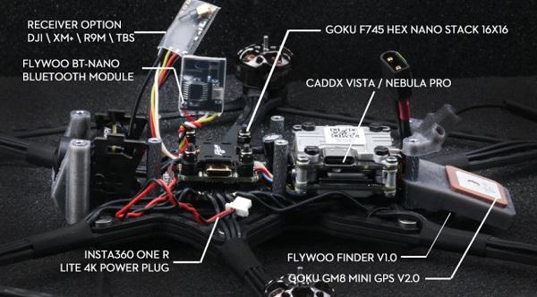 Main parts of Flywoo HEXplorer LR drone