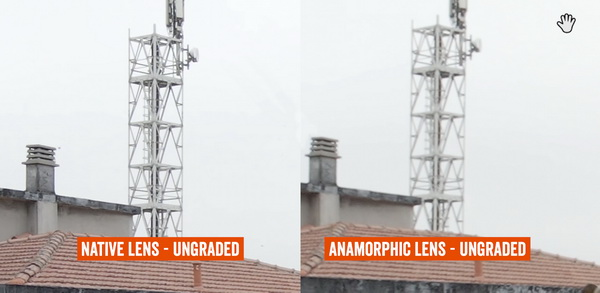 Anamorphic lens vs without lens