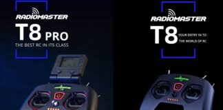 Photo of RadioMaster T8 Pro and T8 remote controllers