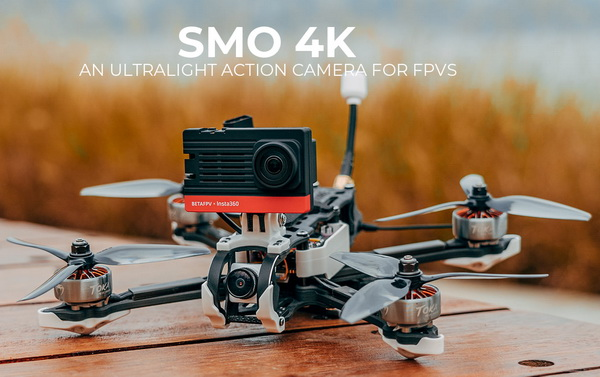"""SMO 4K mounted on 5"""" LR FPV drone"""