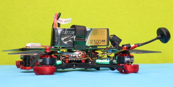 Tattu 4S 2300mAh 45C 5-inch drone test
