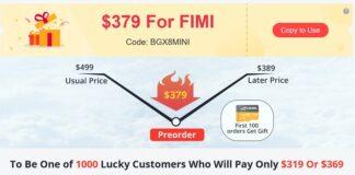 FIMI MINI discount code deal