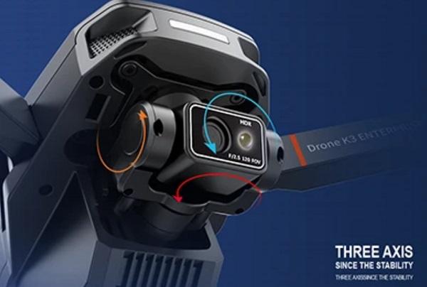 6K camera of VISUO K3 drone