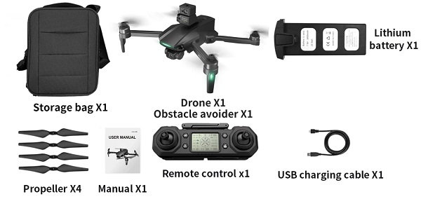 Included accessories with XMRC M10 drone