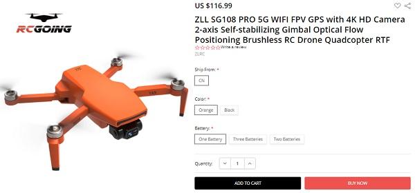 Price of SG108Pro on RCGoing