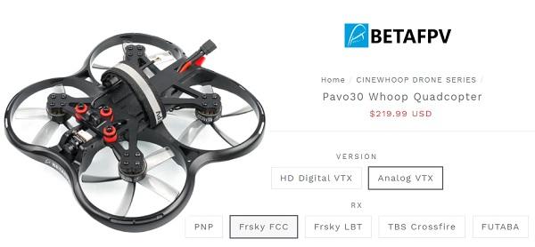 Price of Pavo30 at BetaFPV.com