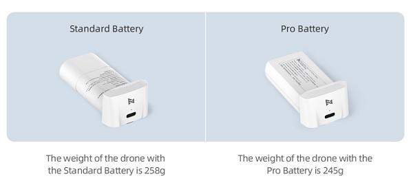 FIMI MINI battery versions (Standard vs Pro))