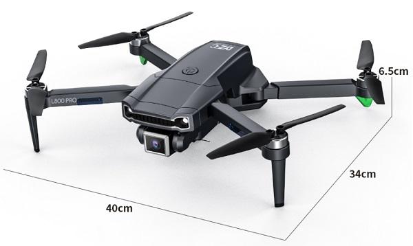 Size of LYZRC L800 PRO drone