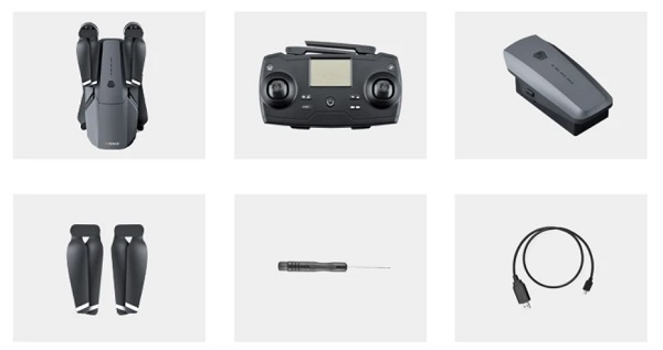 Included accessories with JJRC X19 drone