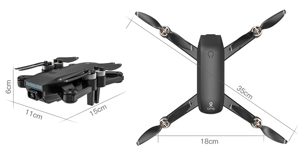 Size of ZLL SG700 drone