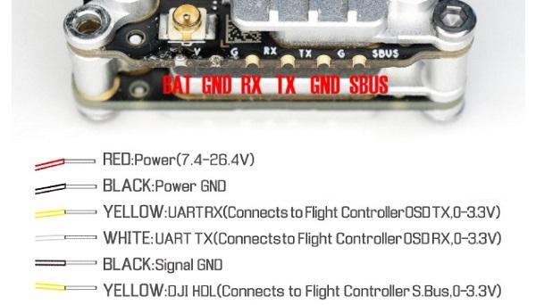 Vista VTX wiring diagram and pinout