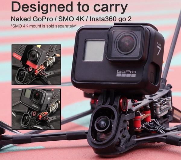 camera options GoPro/Smo 4K/Insta360 GO2