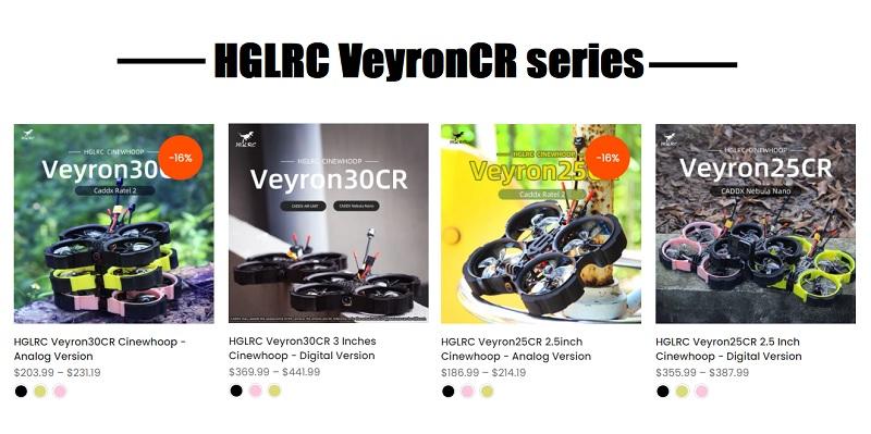 VeyronCR series comparison