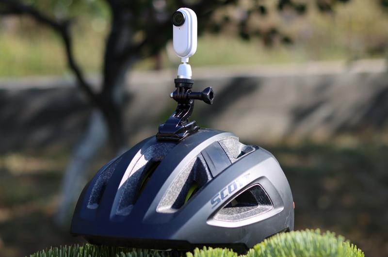 Insta360 GO 2 on bike helmet