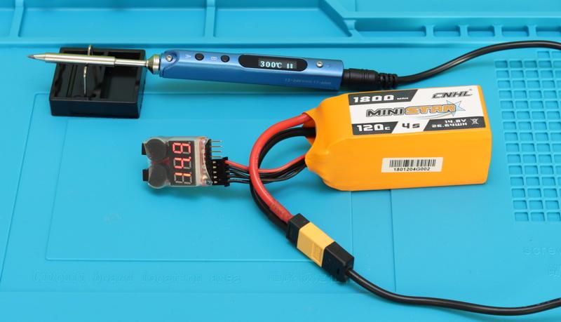 Battery powered soldering iron