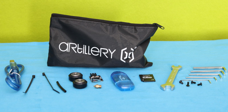 Accessories included with Artillery Hornet 3D printer